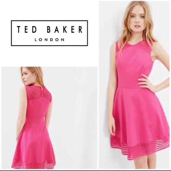 aa873169a New Ted Baker Eleese Mesh Skater Dress